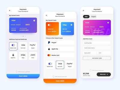 Payment Screens vector app branding ux design design adobe xd web design app design ui design
