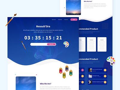 Resoult'Dra Web Design paintings website design colors illustration branding ux design design adobe xd web design ui design