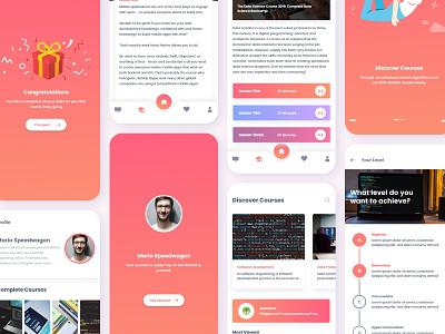 Plexus App creative ui styleframe learning learning platform learning app colors ux ui app branding ux design design adobe xd app design ui design