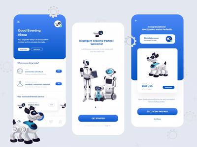 Free AI Remote App Interface Design apple design typography artificial intelligence illustration ios app design branding ux design design web design adobe xd app design ui design