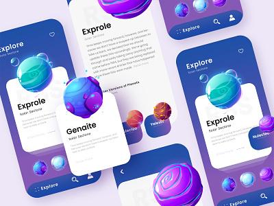 Fantasy Planets fantasy planets planet space illustration illustration branding ux design design web design adobe xd app design ui design