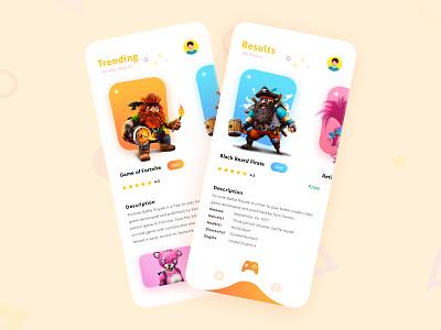 Game Store App Design ui ux design web development creative logo ios app design web design design app design ux design adobe xd ui design