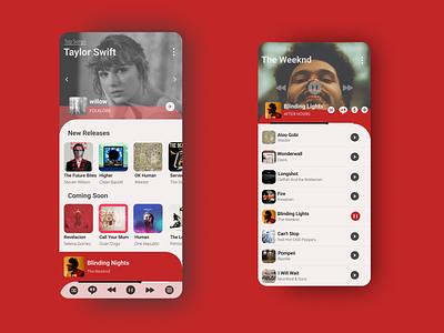 Music Application throwback music app app ux ui design