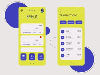 Wallet App minimal application wallet ui app design