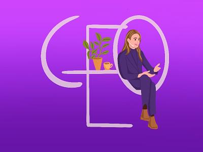CEO illustration branding logo desktop minimal illustration human figure app flat art design