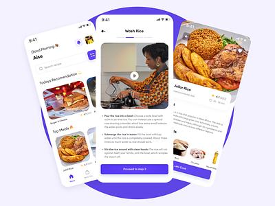 Food recipie teach app cook meal recipie food