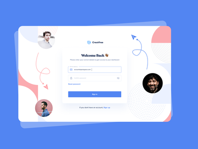 Creatffree Login Page dashboard community marketplace creative login