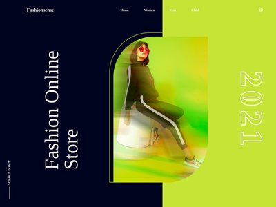 Online fashion Designing Store Header Design branding logo illustration icon graphic design ux ui design dailyui app
