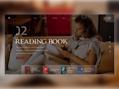 READING BOOK webdesign xd mobile ui mobile app design ui rtl arbic monto