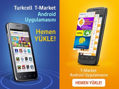 Turkcell T-Market iilüstration flat web design web ux design mobile ui design design ux uı ui