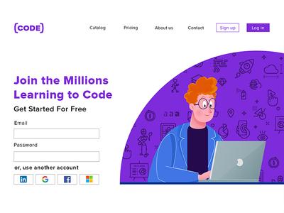 Landing Page web design web illüstration landing page landing ux ui