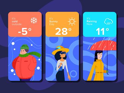 Weather App neumorphism neumorphic illustraion mobile design mobile weather app weather ux ui