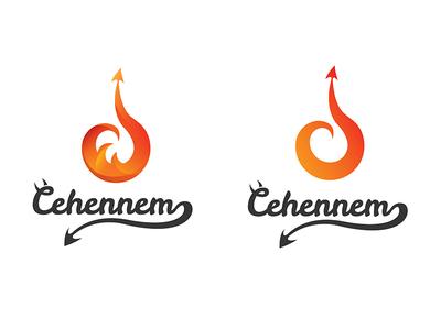 Logo Cehennem typography ui design ui  ux ux hell cehennem design logotype ui logo