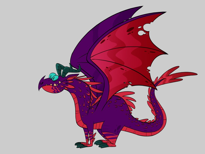 Dragon animation 2d game of thrones got harmony toonboom cartoon comic cartoon drawing draw character design character creation illustration animation design art