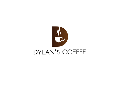 DYLAN'S COFEE LOGO brand logo mark illustration art lettering branding design ui icondesign logo inspirations logo designer icon typography designer logotype logos art graphic design branding design logo