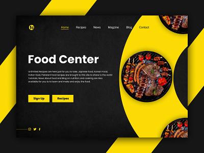 Food Center web UI brand identity app design productdesign branding icon illustration webdesign dribbble ux  ui ux design uxdesign uxui ui design uidesign ui  ux uiux typography ux graphic design ui