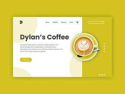 Dylan's Coffee Landing Page UI app ui app design website design dribbble ui  ux website ui landing page design landing page web design uxdesign logodesign uxui graphic design branding uiux ui design uidesign typography ui ux