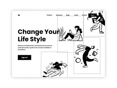 Lifestyle blog web UI dribbble web design appuidesign appuiux appui landing design landing page website design webdesign ui  ux ux design ux  ui uxui uxdesign ui design uiux typography uidesign ux ui
