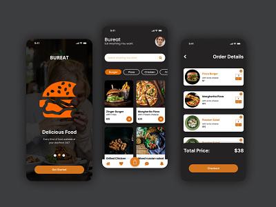 Bureat Food app UI product design ui ux ux ui mobile app app design app ui landingpage website design web ui illustration logo design ux ui design uidesign typography ui graphic design branding