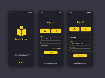 Bookstore app UI web design uxui design uxui ux ui dribbble mobile app design mobile app app ui ui ux branding graphic design ux logo typography ui illustration design ui design uidesign