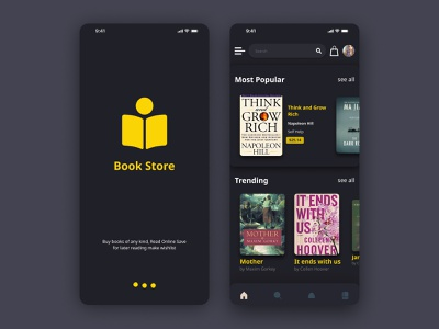 Book Store app Home Page landing page uxui design ux design user interface uiux uxui product design mobile app design web design mobile app ui logo branding design ui design uidesign ux typography graphic design ui