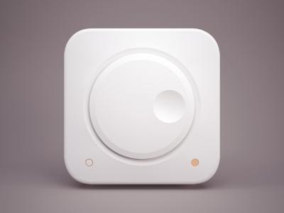 Knob 3D icon ios iphone ipad model control braun settings orange knob 3d icon volume pure white clean china light panel celegorm