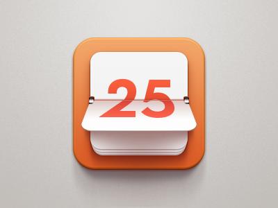 Countdown Icon watch ipad iphone apple date time countdown clock ios clean orange flip icon number calendar china celegorm light