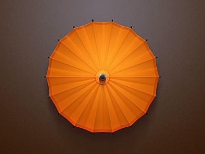 Paper Umbrella icon paper umbrella orange dark china chinese japan zen wood japanese celegorm weather rain