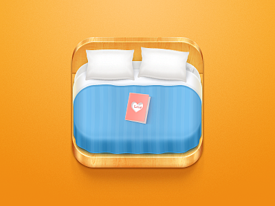 Hotel Booking Icon ios apple iphone ipad card condom pillow bed sheet travel wood white orange blue love icon china celegorm light