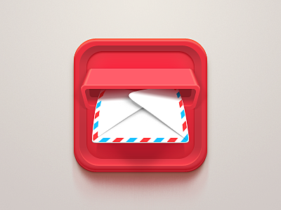 Mail Icon apple clean white mailbox ipad iphone ios message mail red icon send envelope light china celegorm email