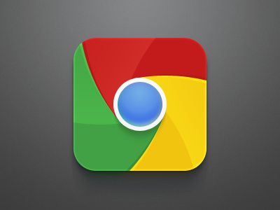 Chrome iOS Icon Redesign celegorm china dark clean icon chrome browser explorer apple ios iphone psd ipad google freebie app