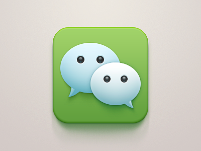 WeChat iOS Icon Redesign light celegorm china apple clean im ipad iphone ios bubble message chat green icon wechat tencent app