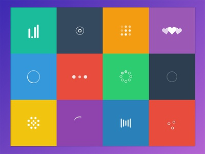Loaders loaders loading svg flat colorful spinner spinners download free animation grid vector
