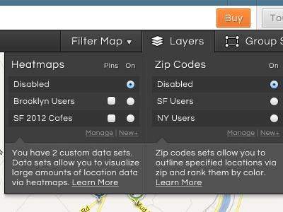 Filter Dropdown dropdown filter map checkbox radio button