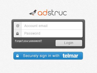 Login Screen login password email grain