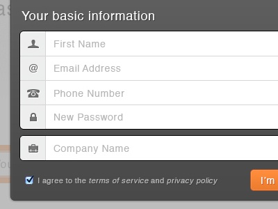 Register Modal register modal signup form password