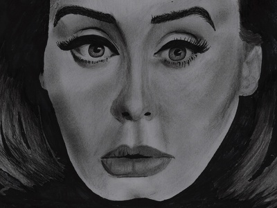 """Adele """"Hello"""" Drawing celebrity artist music pop singer draw tegning petersen miguel drawing hello adele"""