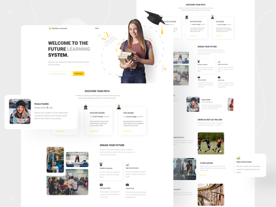 Landing page exploration on university website landing design landing page website concept website design website university uxdesign uidesign landing page design landingpage landing uxui uiux ux ui