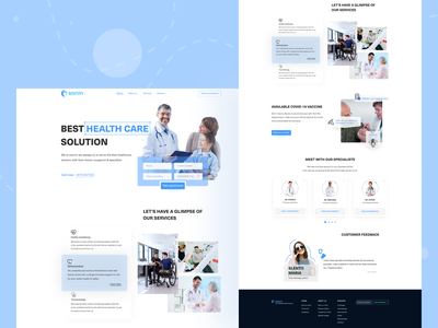 Landing page exploration on Osonin Hospital hospital creative logo creative design concept clean creative user experience user interface design user interface userinterface landing page design landingpage landing page landing ui  ux uidesign uiux ux ui design ui