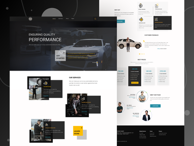 Landing page exploration on Automobile repair shop ui design uxdesign icon ux  ui webdesign website design website landing page design landingpage landing page landing ux design uxui ux uidesign ui  ux uiux ui
