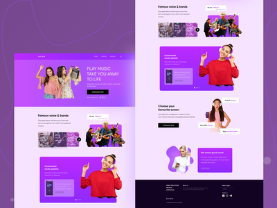 Landing page exploration on mobile music application hireme musician music app music player music art music landing page design landingpage landing page landing ux  ui uxui uxdesign ux design ux ui  ux uiux uidesign ui design ui