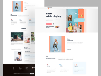Landing page exploration on Kids school website userinterface website design web design website webdesign schools school landing page design landing page landingpage ux  ui uxdesign ux design ux uidesign ui design uxui ui  ux uiux ui