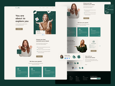 Landing page exploration on career consultancy firm ''Grow'' creativity creative design creative user experience userinterface logodesign logo career website concept website design landing page design landing page landingpage uiuxdesign ux design uxdesign uxui uiux ux ui