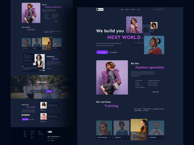 Landing page exploration on Women consulting firm ''Oaadi'' hireme best designer best design landing page design landingpage user experience userinterface home page homepage women empowerment womens day startup landing page landing ux ui  ux uiux uidesign ui design ui