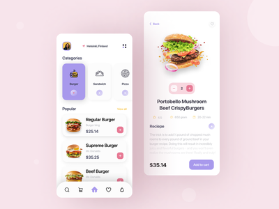 Food delivery mobile application product design new  new worthy mobile branding creative concept inspiration user flow user experience user interface food delivery food delivery service food delivery application pizza app burger app restaurant app recipe app food order mobile application popular