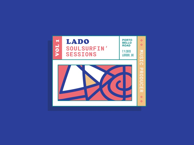 LADO Soulsurfing Sessions art type illustrator illustration typography vector branding logo design