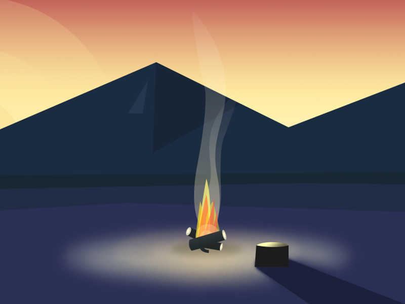 404 page fire error illustrations 404