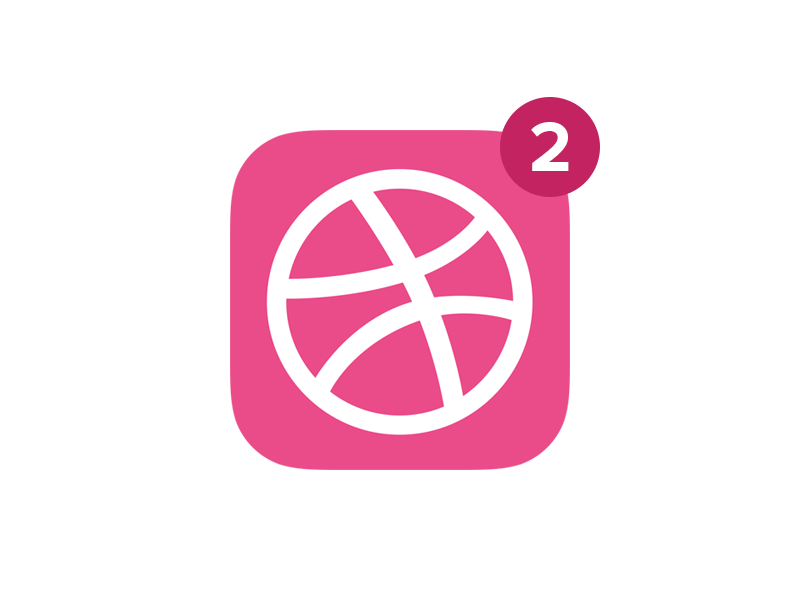 2 Dribbble Invites free white app icon flat ios invite dribbble design ui user interface graphic
