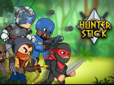 game banner hunter stick