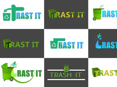 Trash logo design gamedesign photoshop icon design icon ux ui logo game design game art designer